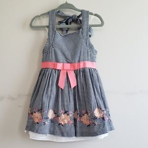 Rare Editions Gingham Halter Dress and